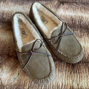 Ugg Olsen Moccasin Slippers Dry Leaf Suede